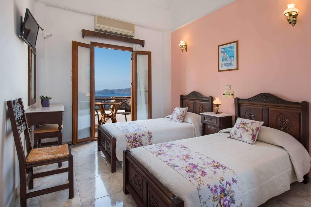 Double Volcano And Sunset View Room Astir Thira Hotel On